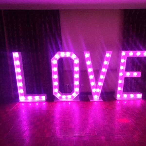 love letters for hire, LED light accessories, SOS Entertainment