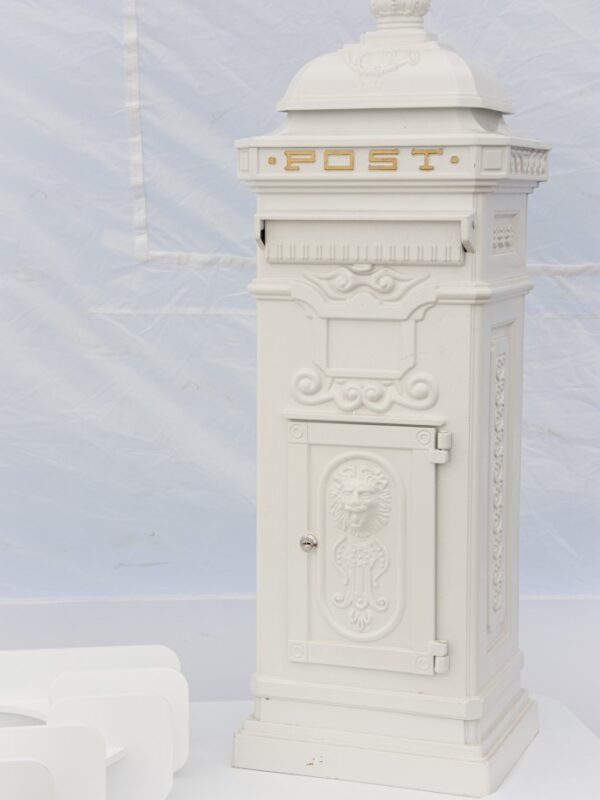 traditional wedding post box for cards and gifts