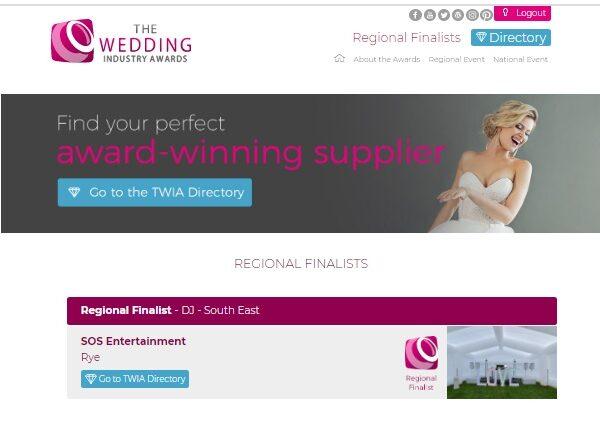 best wedding dj, the wedding industry awards 2021