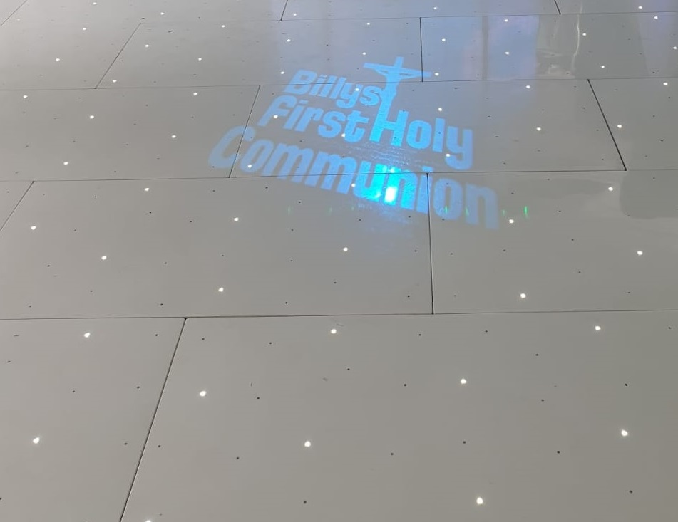 dance floor tiles with LED lighting