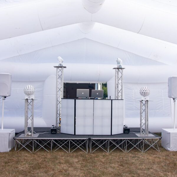 DJ set up for wedding party music