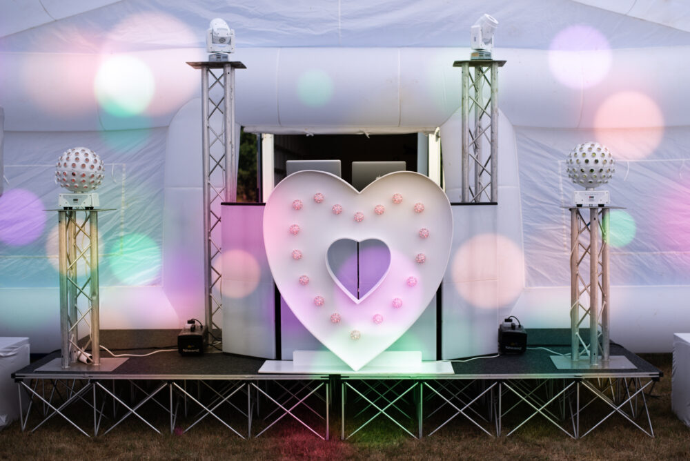 DJ for hire stage and party set up