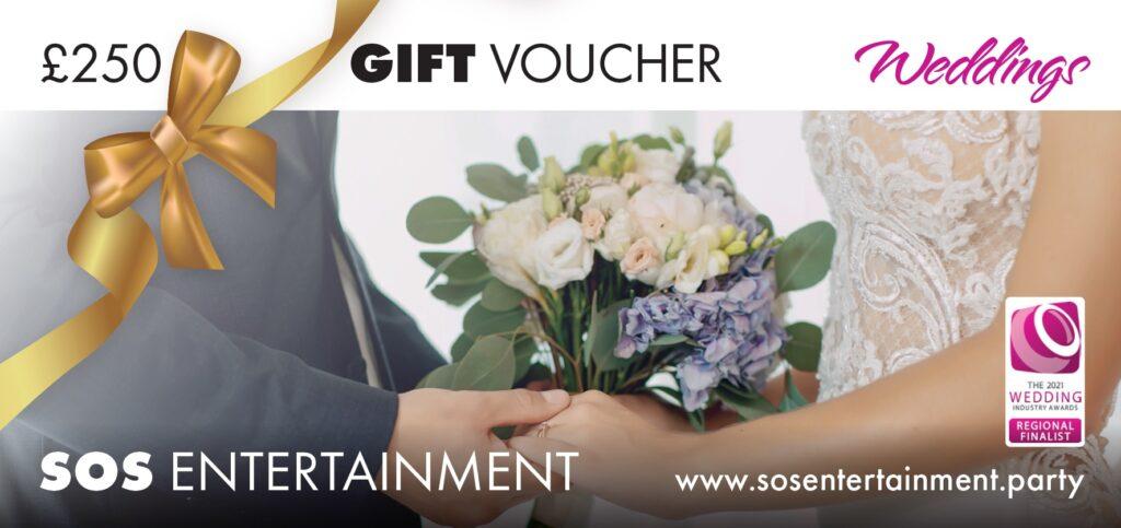 wedding entertainment gift voucher 250