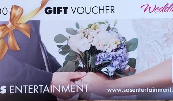 wedding entertainment gift voucher 100