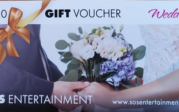 wedding entertainment gift voucher 250