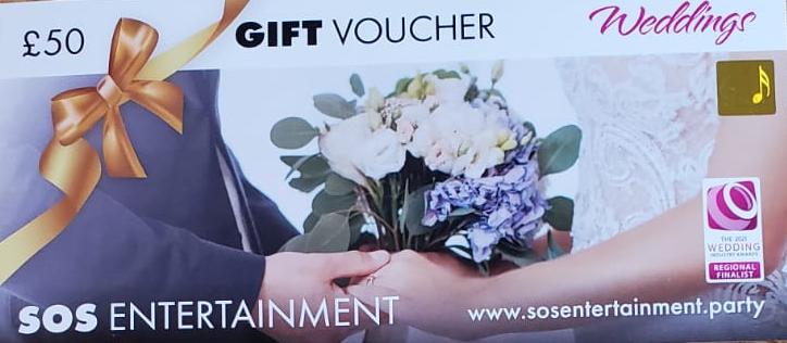 wedding entertainment gift voucher 50