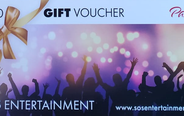 SOS Entertainment party gift vouchers