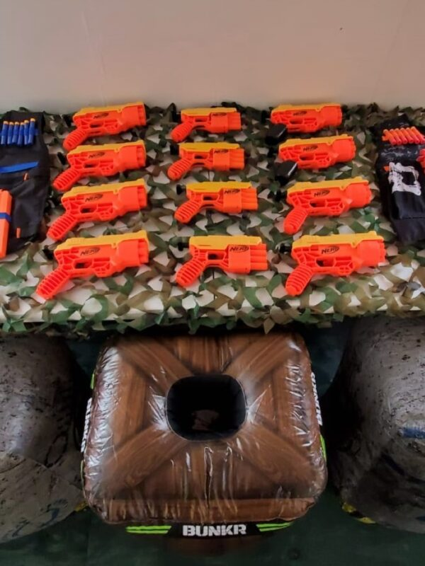 nerf gun parties, nerf challenge, nerf parties kent
