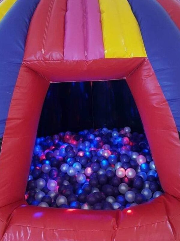 colourful, multisensory ball pit dome with light and sound