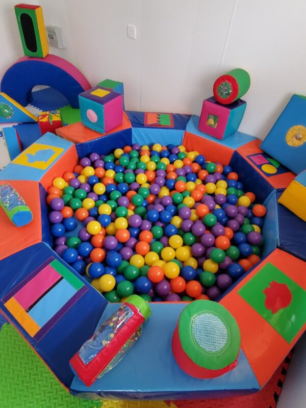 colourful shapes and sensory soft play