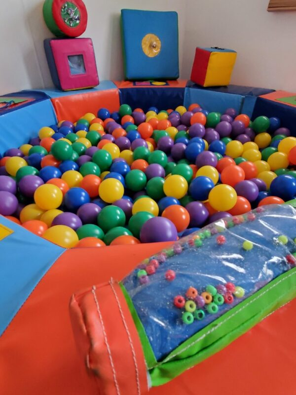 soft play ball pit available to hire for babies and toddlers