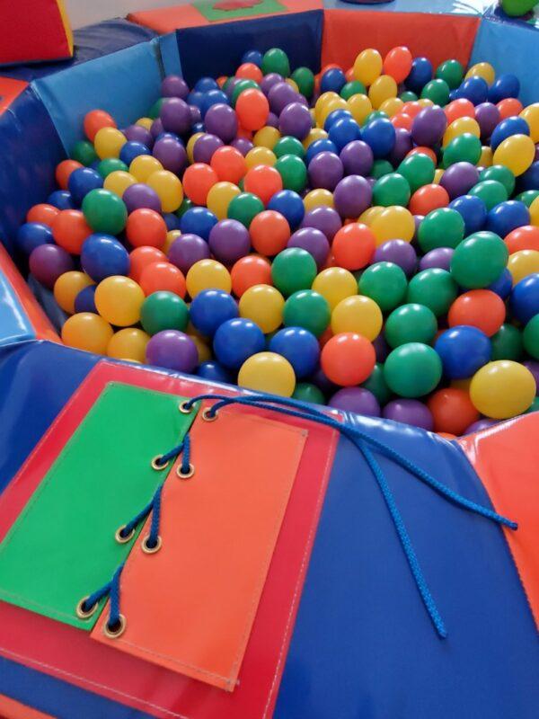 colourful sensory soft play ball pit