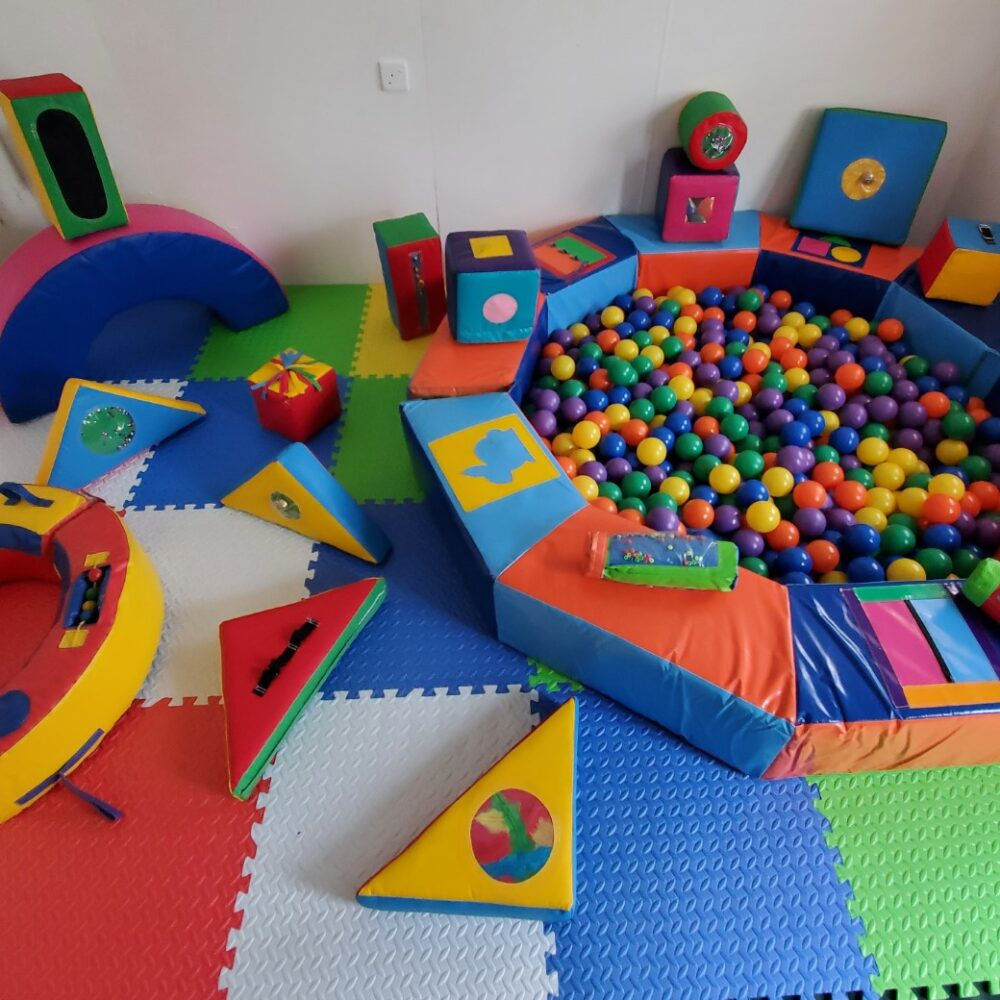 sensory soft play ball pit and shapes