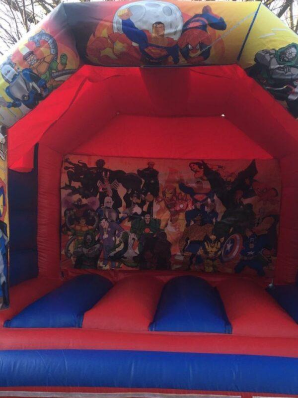 bouncy castle hire, popular super hero character bouncy castle for children