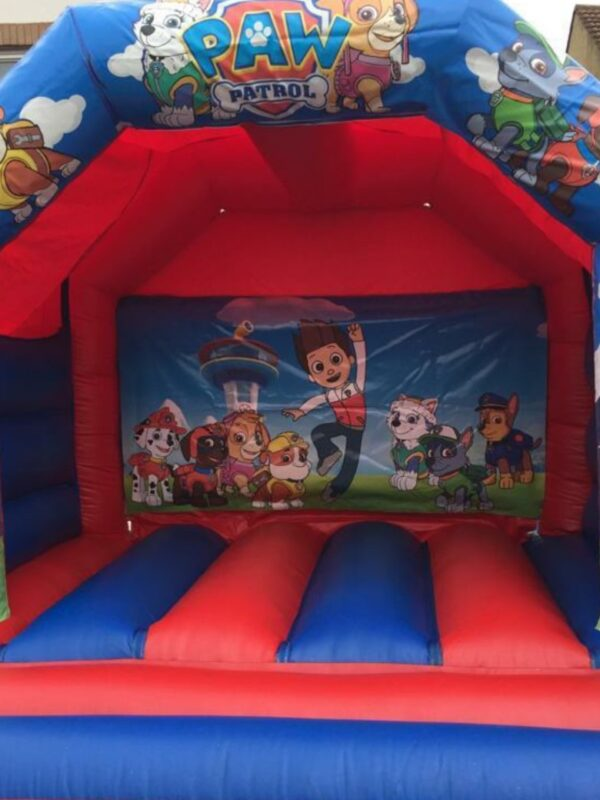 bouncy castle hire, popular doggy characters bouncy castle for children