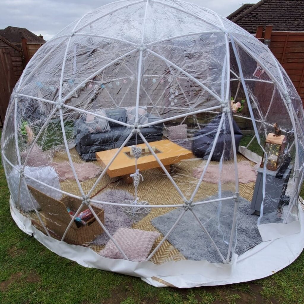 igloo dome set up for Easter bank holiday 2021