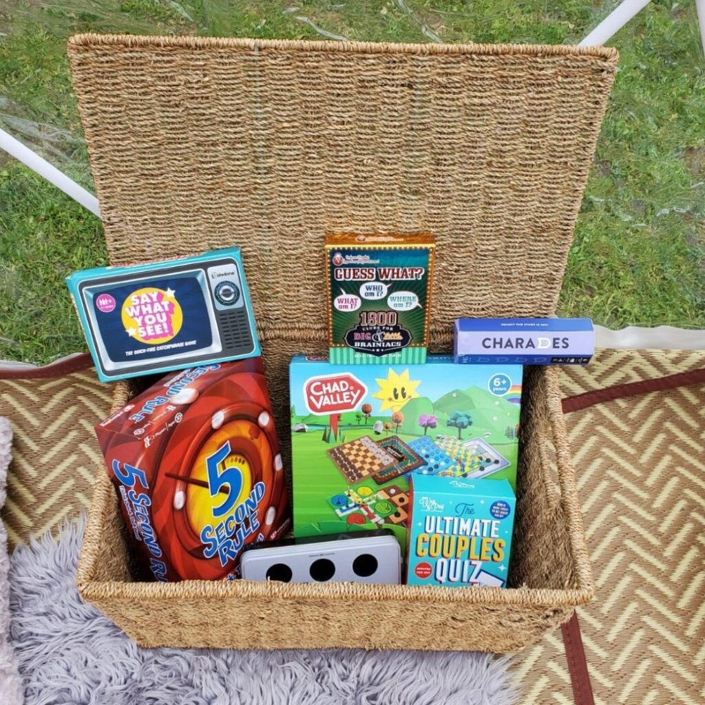 garden igloo dome with games hamper for bank holiday