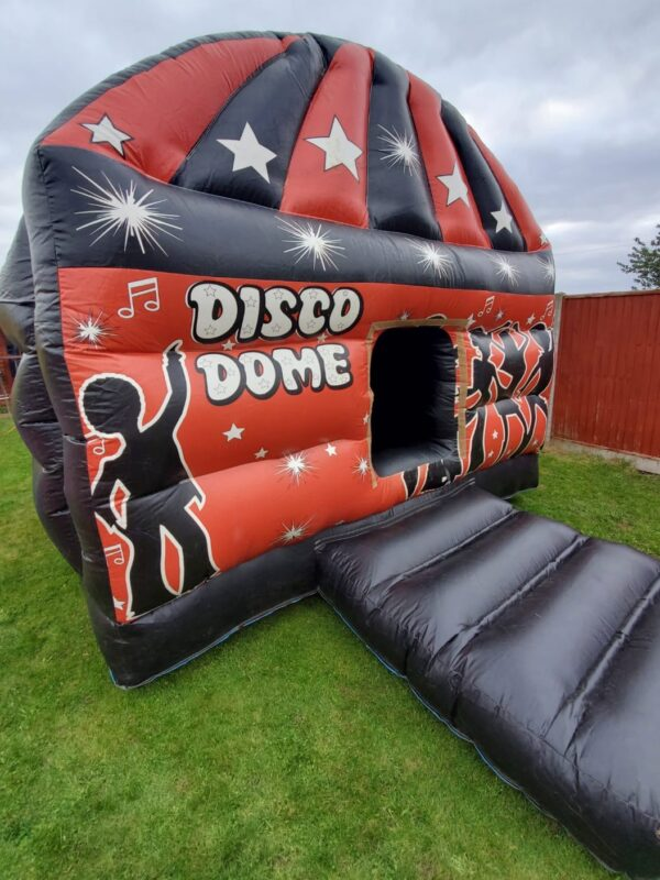 disco bouncy castle for hire with bounce zone