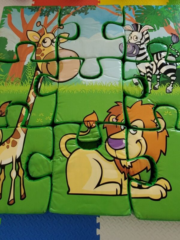 foam floor puzzle with jungle theme for hire in Sussex