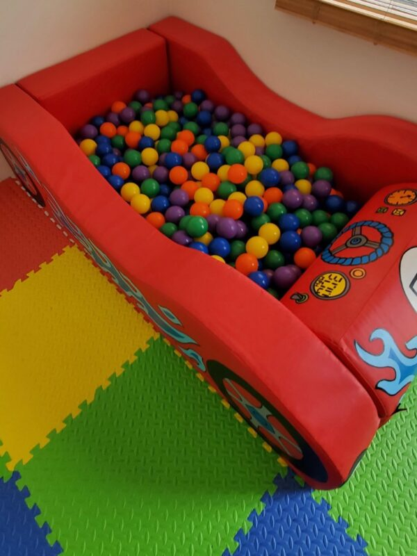 car themed play set and ball pit hire kent