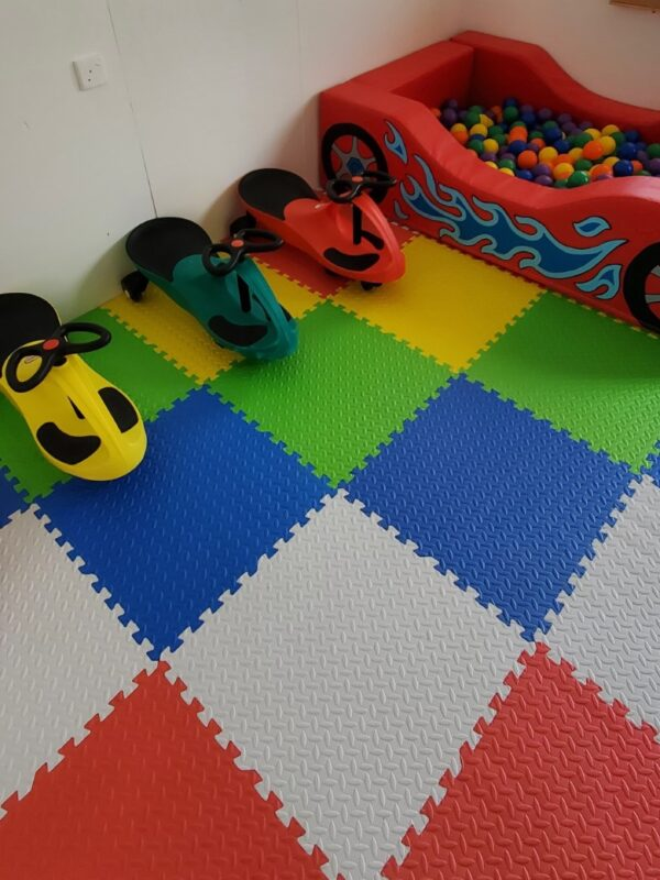 car themed play set and ball pit hire in sussex
