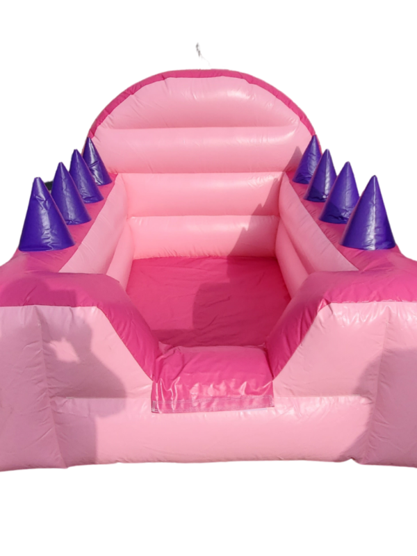 pink air blower ball pit for hire in Sussex