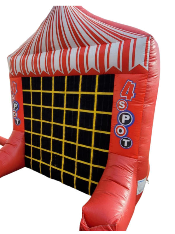 connect 4 inflatable with tic tac toe game on reverse