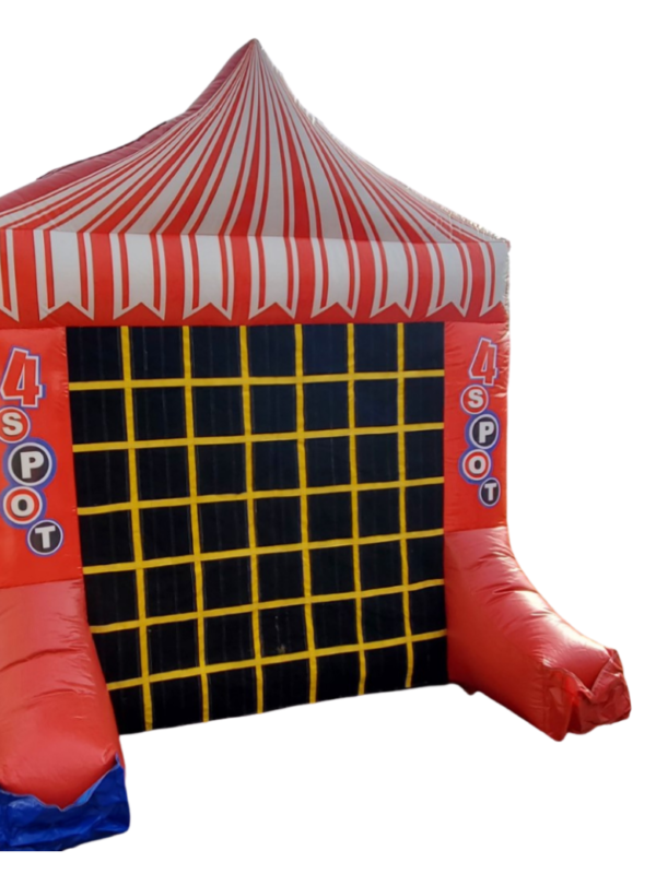 double fun tic tact toe inflatable, connect 4 inflatable in one