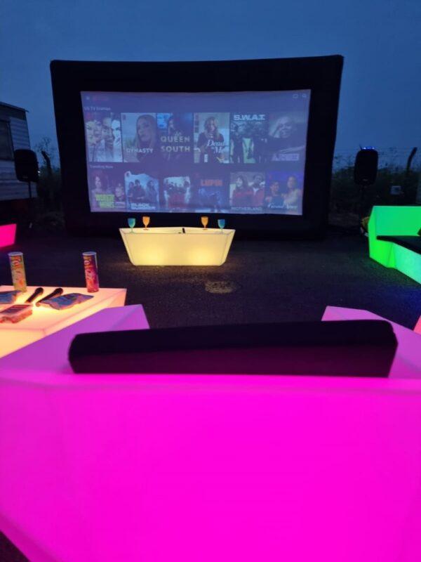 led furniture for rent, sussex & kent