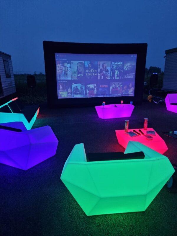 led outdoor furniture rental, kent & sussex