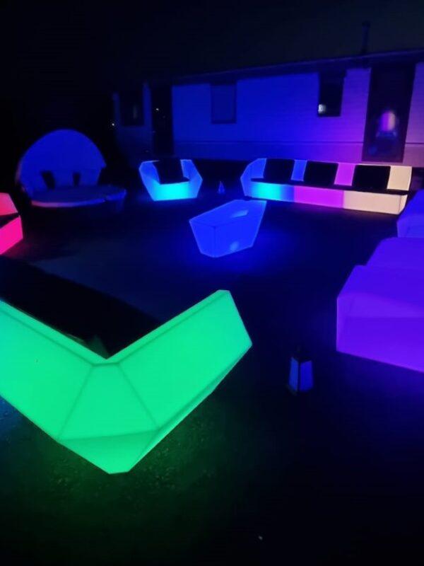 led furniture sets, hire Kent & Sussex