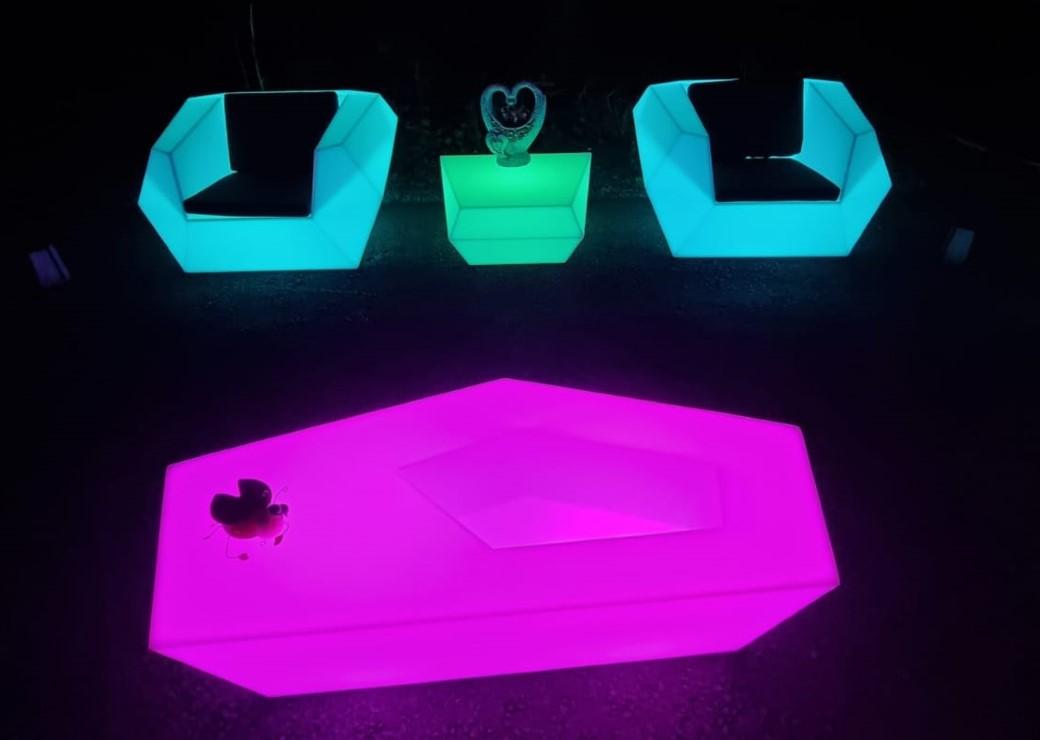 led furniture lights, Kent & Sussex hire