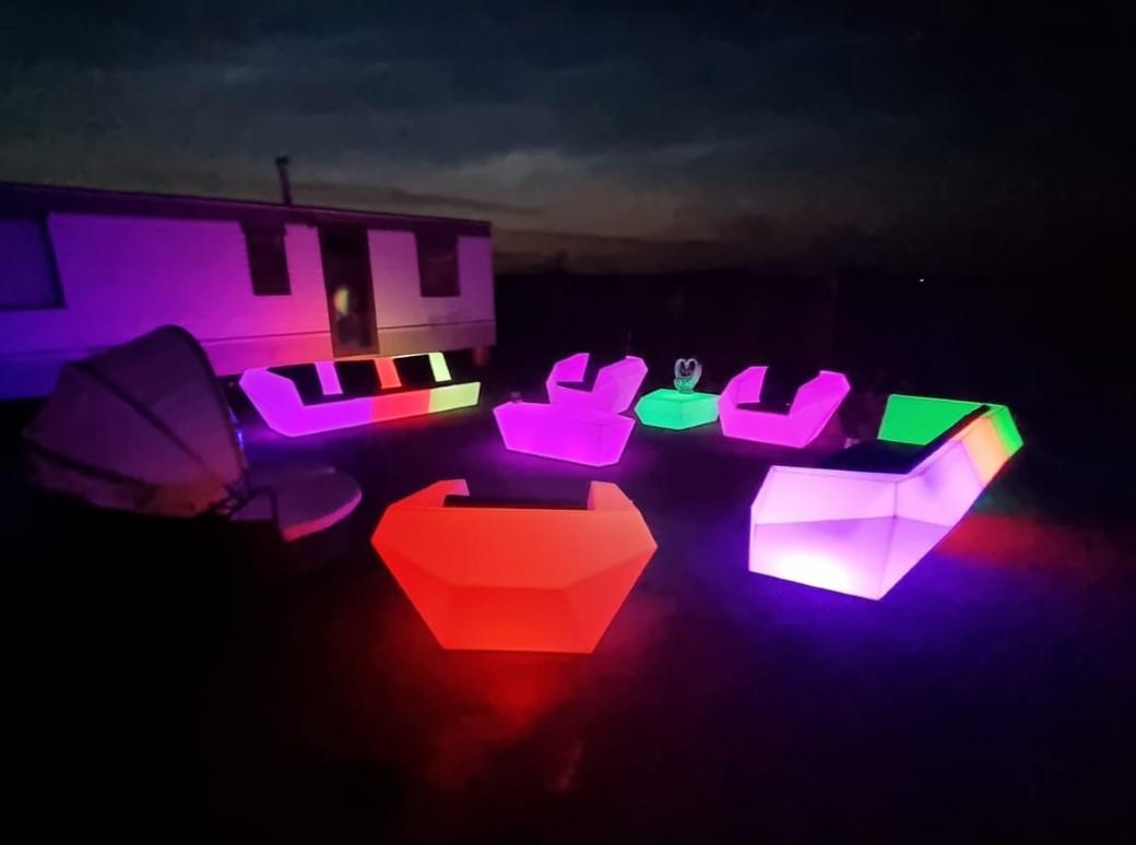 led furniture bar, hire Kent & Sussex