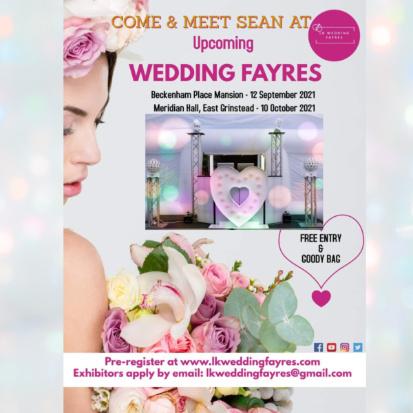 SOS entertainment at wedding fairs in 2021