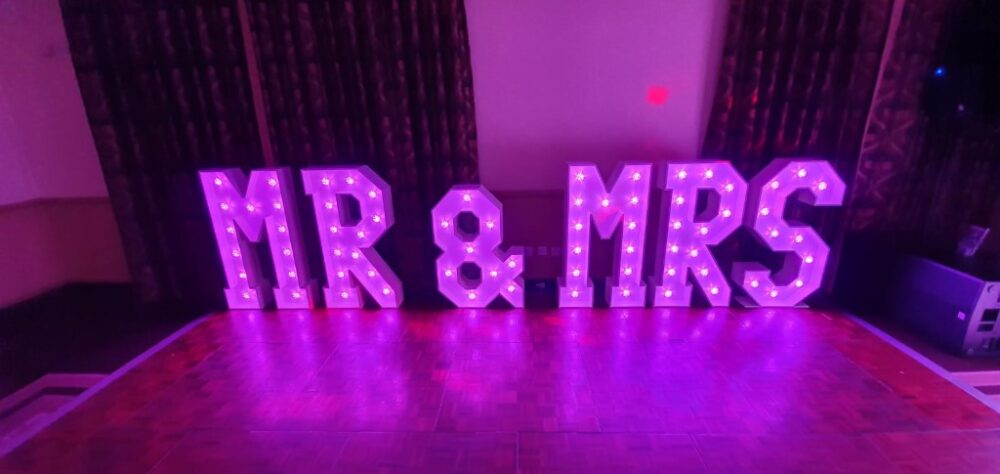 mr and mrs lights, hire for weddings, kent