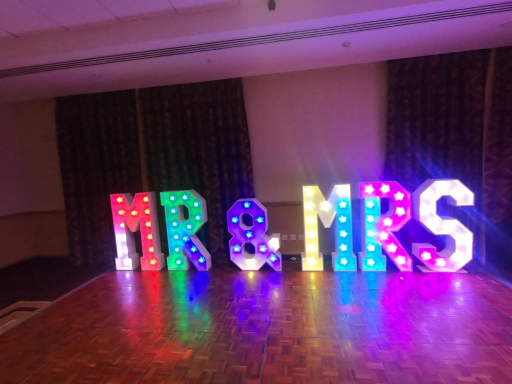 mr and mrs led lights, kent and sussex hire